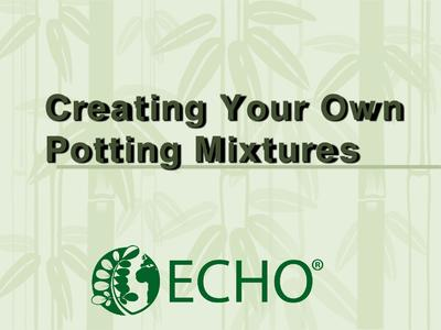 Creating nursery potting mix  0
