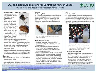 Poster co2 and biogas applications for controlling pests in seeds  0