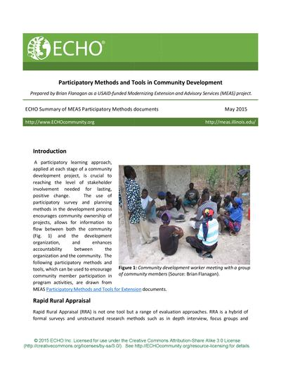 Participatory methods and tools in community development thumbnail 0