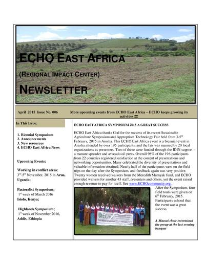Echo east africa newsletter issue 6  0