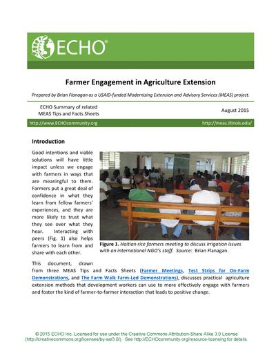 Farmer engagement in agriculture extension thumbnail 0