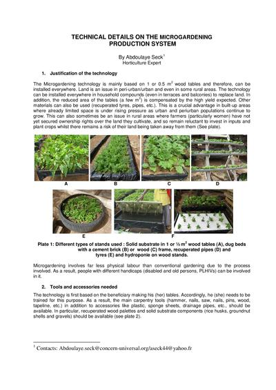 Technical details on the microgardening production system thumbnail 0