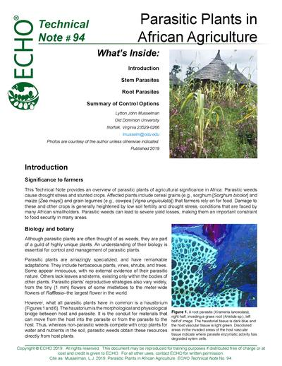 TN #94 Parasitic Plants in African Agriculture