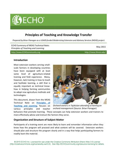 Principles of teaching and knowledge transfer thumbnail 0