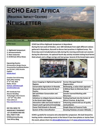 Echo east africa newsletter issue 5  0