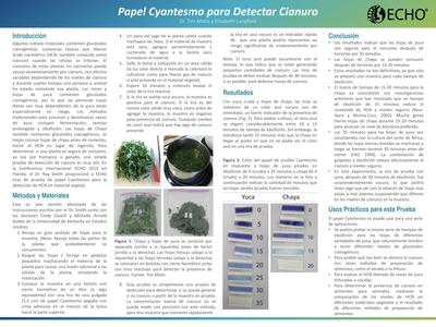 Poster cyantesmo paper for detecting cyanide  0