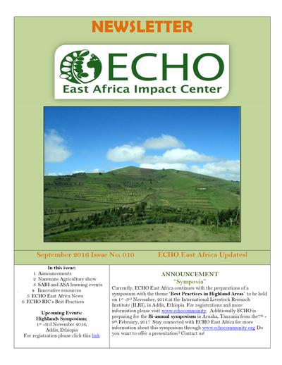 Echo east africa newsletter issue 10  0