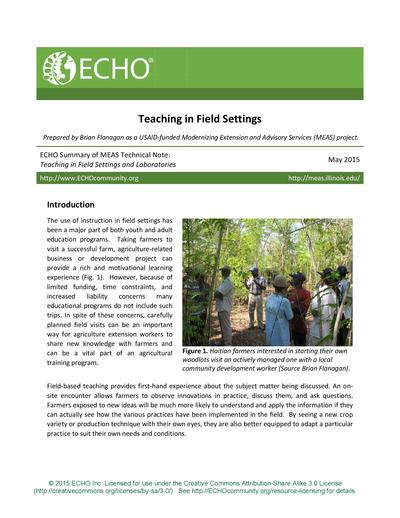 Teaching in field settings thumbnail 0