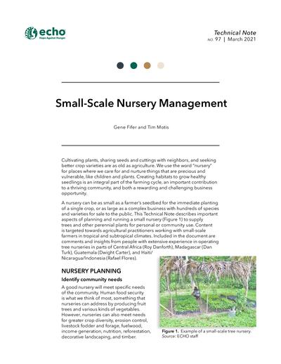 TN #97 Small-Scale Nursery Management