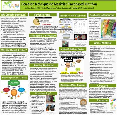 Poster domestic techniques to maximize plant based nutrition farm stew  0