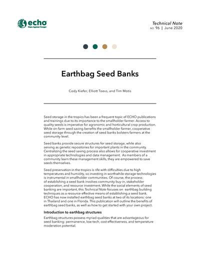 TN #96 Earthbag Seed Banks
